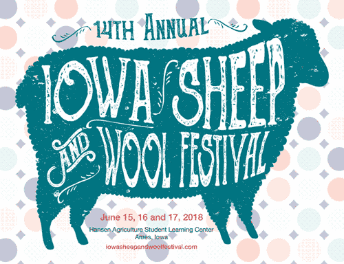 iowa sheep industry association - annual sheep festival poster
